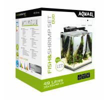 Аквариум AQUAEL FISH & SHRIMP SET DUO куб, 49л