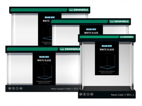 Новинки компании Dennerle - аквариумы Nano Cube и Nano Scaper's Tank White Glass из осветленного стекла.