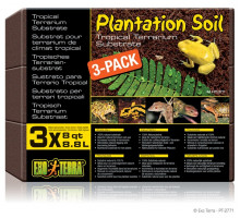 Субстрат Exo-Terra кокосовая крошка Plantation soil 3х8.8л.